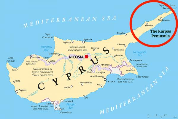 cyprus karpas map