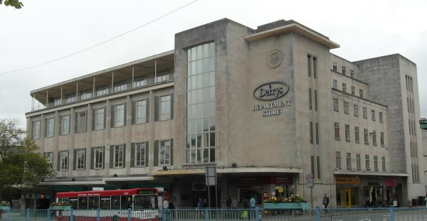 Derry's department store in Plymouth. The Co-op Group held the lease until an agreement was reached last year to exit the property early. Plans are now in place for a range of student accommodation and shops. [photo: Tom Bastin / Flickr]