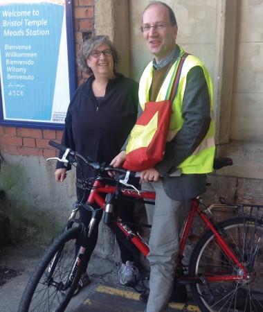 Ed Mayo sets off on his bike tour of Bristol