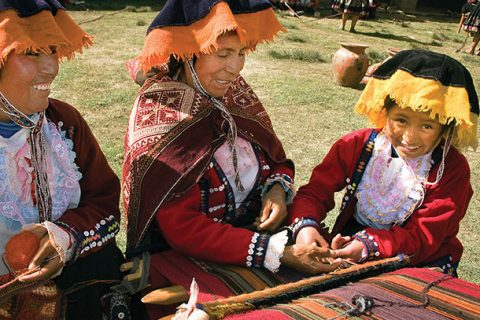 The exhibition looks at how women-run co-operatives such as weaving co-ops in Guatemala have helped indigenous cultures to survive and empowered local communities. [photo: Canadian Museum for Human Rights]