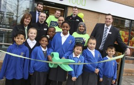 The recent store opening in Hulme, which took place at the Birley Fields MMU campus on 19 November.  Children from nearby St Philip's Primary School were guests of honour