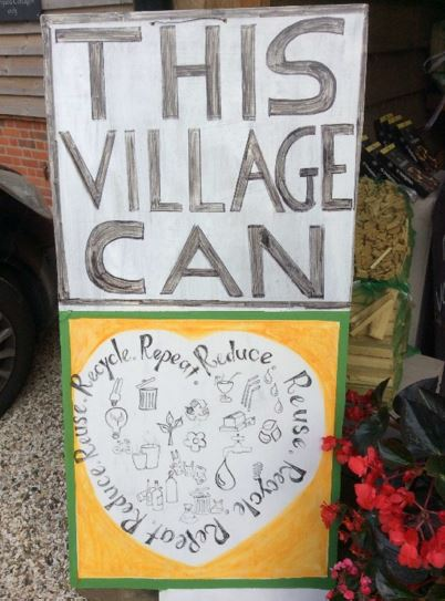 A recycling drive at the Hampstead Norreys store