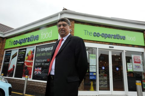 Chief executive Ali Kurji outside the store in Ryton, Coventry. (Image: Coventry Telegraph)