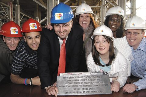Building a future: Members of Starley Housing Co-operative in Coventry buried a time capsule in 2005, to be opened 100 years later