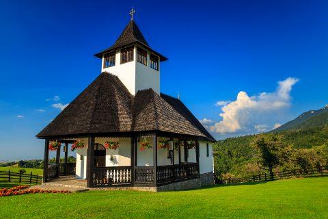An orthodox church in Bran, Transylvania