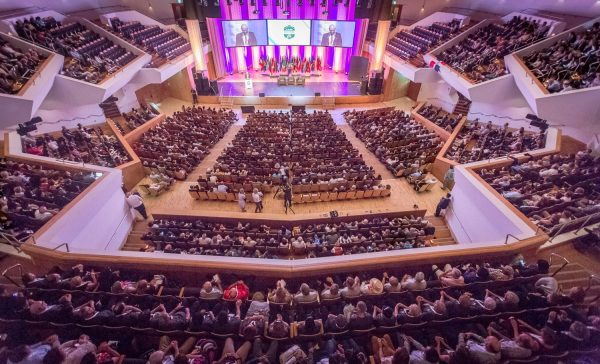 The main auditorium at Belfast Waterfront Hall, where the conference was held [photo: Woccu]