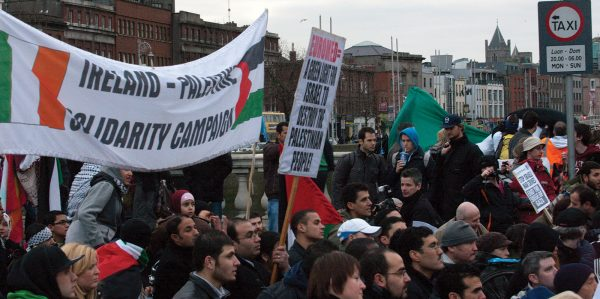 The Palestine Solidarity Campaign joins a demonstation in Dublin