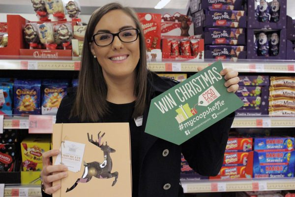 Joanne Baldock from Central England Co-op shows how you can 'win Christmas' at their stores