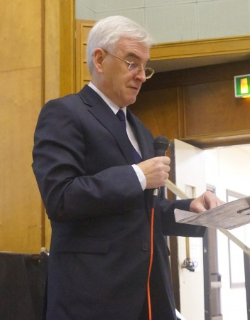 John McDonnell at the Ways Forward conference