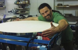 Ceramicist Guillermo Justel with the new kiln, in part funded by the Young Co-operators Prize (photograph: Ceramics Studio)