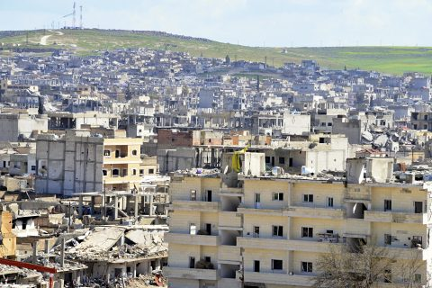 Destruction of Kobani in northern Syria