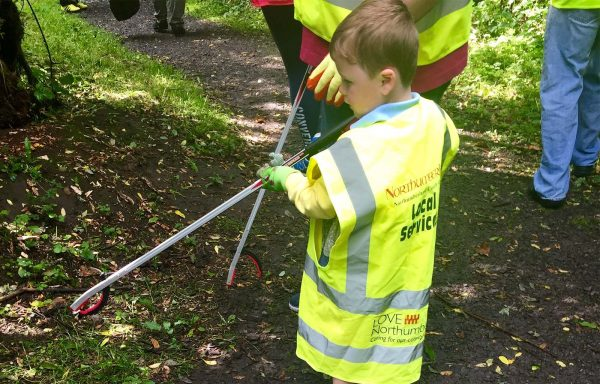 A young volunteer helping out with Lakes & Dales Co-operative.
