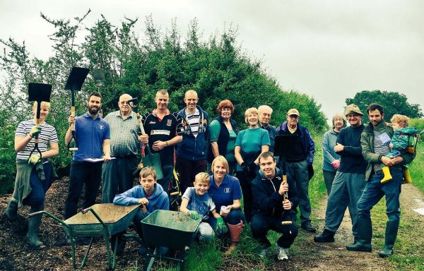 Lincolnshire Co-op helped clear up Ashling Lane Nature Reserve.