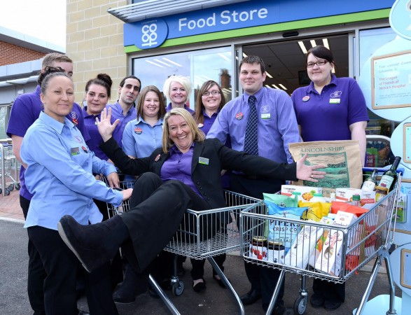 Staff from Lincolnshire Co-op at Bowbridge Road Food Store, Newark