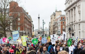 50,000 people marched in London at the weekend to mark the beginning of the COP21 climate change conference [photo: Matthew Kirby/Flickr]