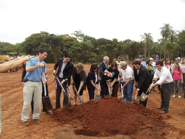 Laying the foundation stone for Manduvira's very own sugar mill