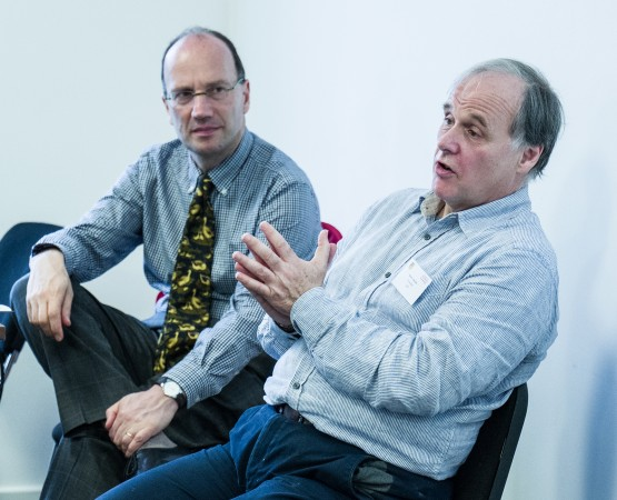 Ed Mayo (left) and Kevin Jaquiss at the Governance Forum