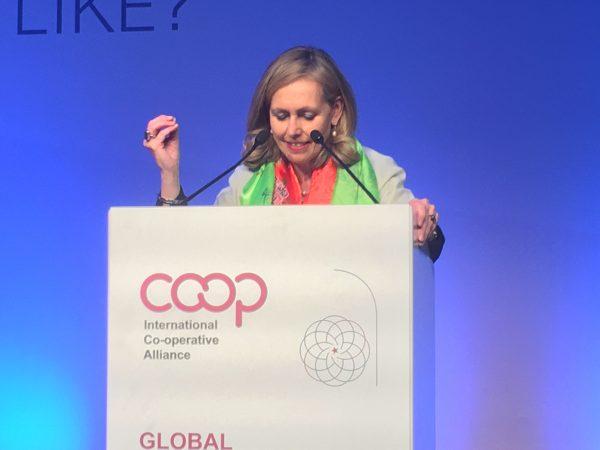 Monique Leroux, the new president of the International Co-operative Alliance