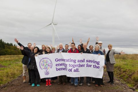 Neilston Community Windfarm opened its doors to the public on 24 August 2013 as part of Community Energy Fortnight.