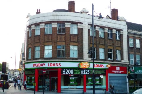 Payday lenders are now a fixture on many high streets – providing short term loans with high interest rates. Credit unions aim to be an ethical and sustainable alternative. [photo: Flickr/Ewan Munro]