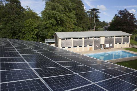R-ECO designed a solar system for Pinewood School, Swindon