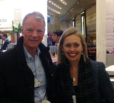 Michael Spence with Monique Leroux