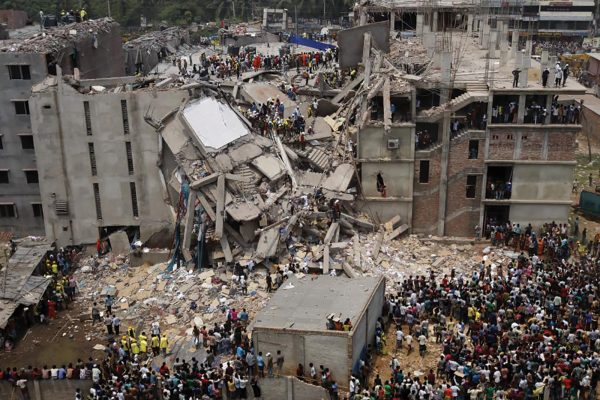 The Rana Plaza building collapsed in April 2013