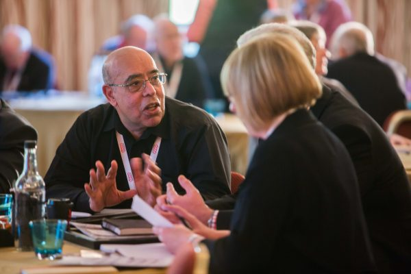 Paul Singh from Central England Co-op at the conference. [photograph: Co-operatives UK]