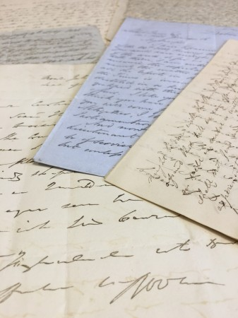 Robert Owen's letters are housed in a secure environment at the National Co-operative Archive