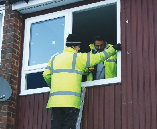 Maintenance work on Rochdale Borough Housing co-op