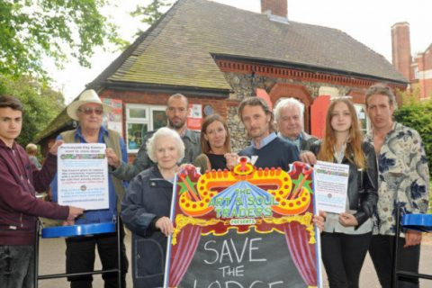 Save the Lodge campaigners fight against the termination of the social enterprise's lease.