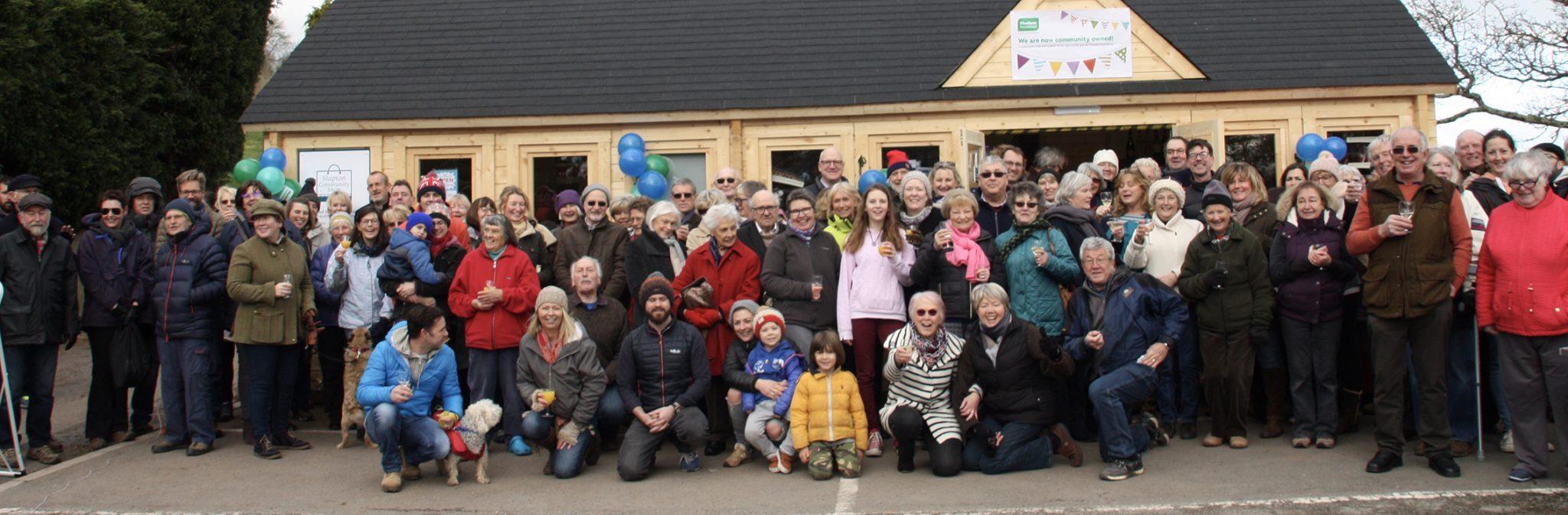 Slapton celebrates taking the store into community ownership