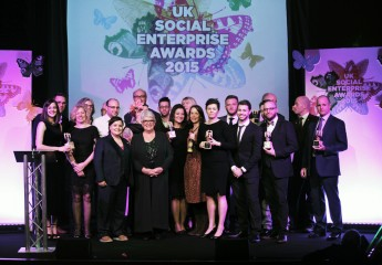 All the winners from the Social Enterprise UK Awards at the ceremony