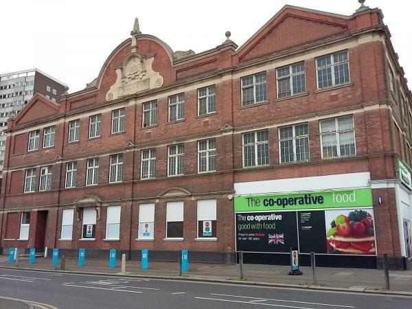 The former London Co-op bakery in Southend, where the upper floor lies empty [photo: Richard Wood / www.co-opstorepics.blogspot.co.uk]