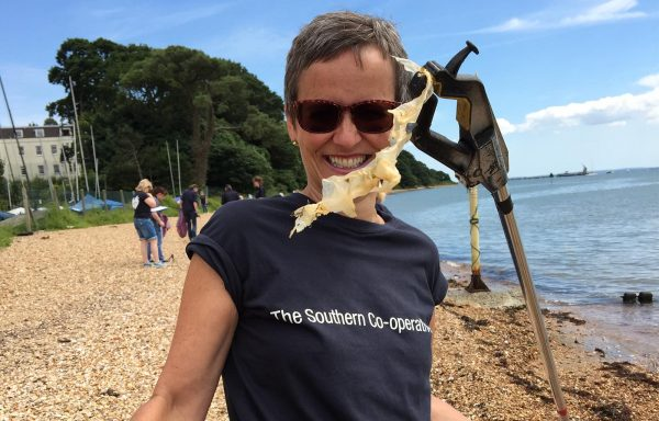 The Southern Co-op helped clean the beach at the Royal Victoria Country Park in Southampton with The Conservation Volunteers.