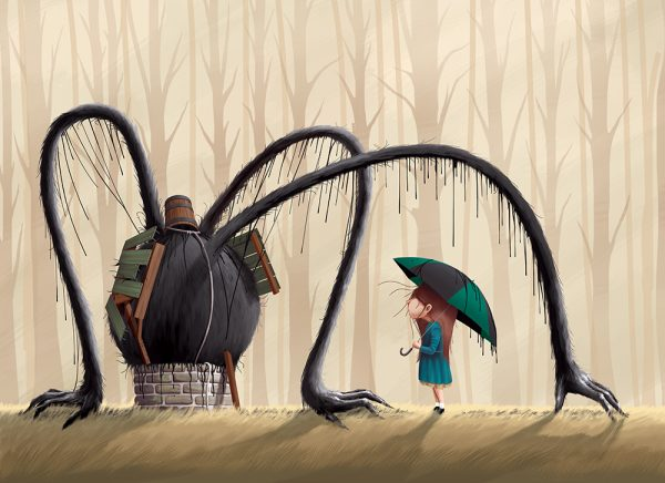 The Wishing Well, an illustration by Paper Rhino Creative Co-op inspired by the films from Studio Ghibli. [image: Paper Rhino]