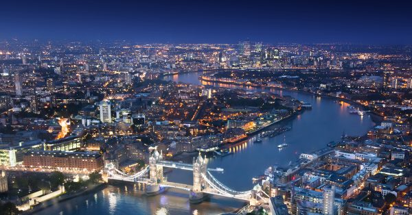 Take a helicopter across London