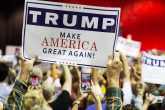 Presidential candidate Donald Trump's banner