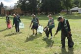 The Complete Wasters' team of litter pickers get to work after an event at Althorp House, Northants