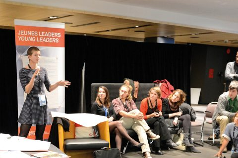 Altgen's Rhiannon Colvin addresses young leaders at Quebec 2014